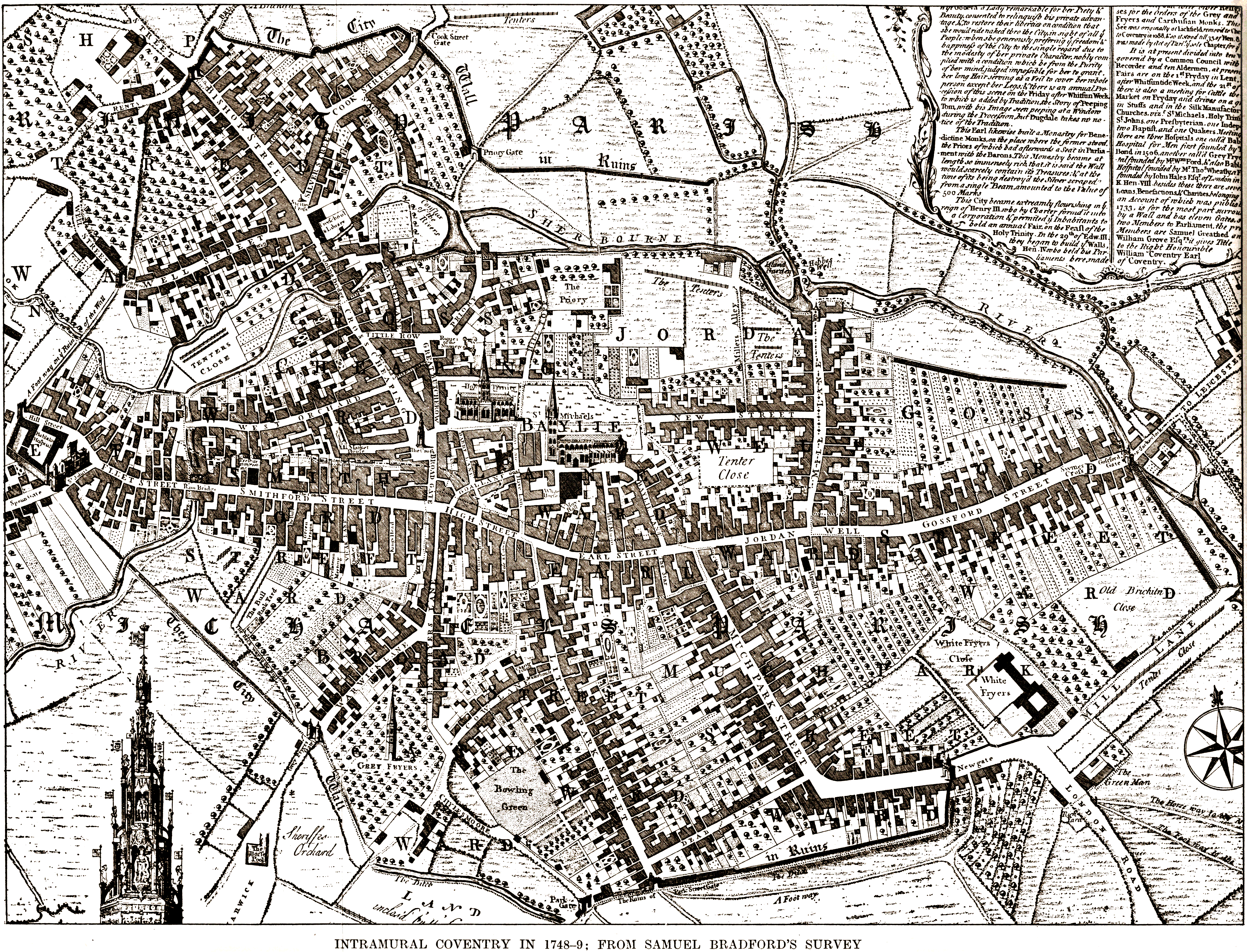 Historic Coventry Scans of old maps
