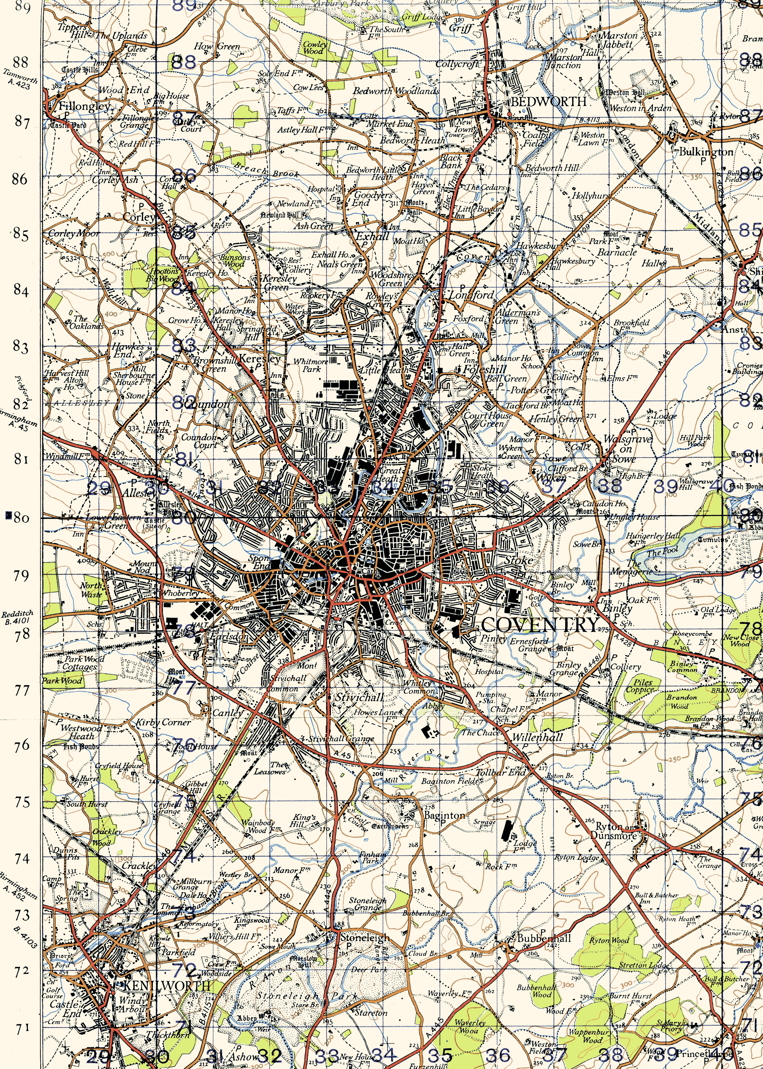 Historic Coventry Scans Of Old Maps - Old os maps