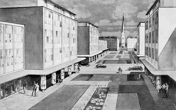 Post war coventry the precinct for Coventry plans